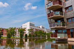 Beautiful Modern Architecture Residential Apartment Buildings. Newly built homes with a nice neighborhood in Den Bosch, Netherlands Stock Photography