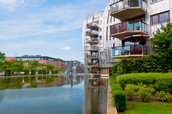 Beautiful Modern Architecture Residential Apartment Buildings. Newly built homes with a nice neighborhood in Den Bosch, Netherlands Royalty Free Stock Photo
