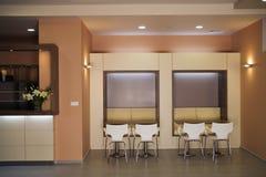 Beautiful and modern bar interior design. Royalty Free Stock Photography