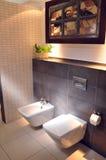 Beautiful modern bathroom in home Royalty Free Stock Photos