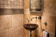 Beautiful Modern Bathroom In Luxury New Home Stock Photos