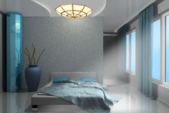 Beautiful modern bedroom Royalty Free Stock Photography