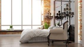 Beautiful modern bedroom interior Stock Image