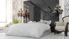 Beautiful modern bedroom interior Stock Image