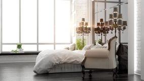 Beautiful modern bedroom interior Royalty Free Stock Photography