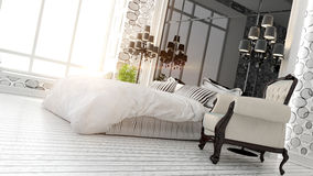 Beautiful modern bedroom interior Royalty Free Stock Photo