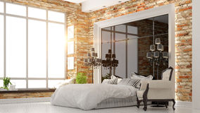 Beautiful modern bedroom interior Royalty Free Stock Image