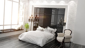 Beautiful modern bedroom interior Stock Photography