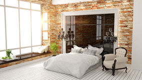 Beautiful modern bedroom interior Stock Photography