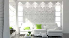 Beautiful modern bedroom interior Royalty Free Stock Photos