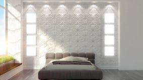 Beautiful modern bedroom interior Royalty Free Stock Photo