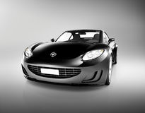 Beautiful Modern Black Sports Car Royalty Free Stock Images