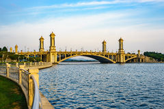 Beautiful modern bridge in Putrajaya, Malaysia Stock Image
