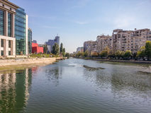 Beautiful modern buildings on the river Royalty Free Stock Photo