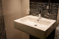 Beautiful Modern Classical  Bathroom in Luxury New Home Royalty Free Stock Images