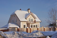 Beautiful modern cottage in the city of Perm. Russia Stock Photos
