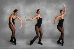 Beautiful Modern Dancer in Various Poses. On Mottled Studio Background stock images
