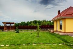 Beautiful modern decorative garden design Royalty Free Stock Photo