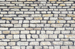 Beautiful modern funky loft wall background. Gray pattern of style design decorative real stone wall surface. Royalty Free Stock Photography