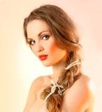 Beautiful Modern Girl Seductive Eyes Stock Photos