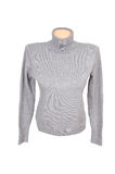 Beautiful modern grey sweater on a white. Royalty Free Stock Photos