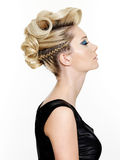 Beautiful modern hairstyle Royalty Free Stock Photo