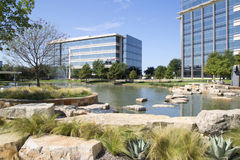 Beautiful modern Hall Park Frisco Texas. Modern office buildings and landscapes design in Hall Park Frisco TX USA Stock Images