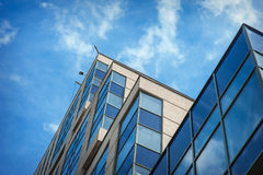 Beautiful modern high rise building against the sky Royalty Free Stock Photos