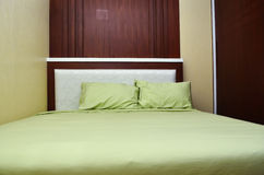 Beautiful modern home and hotel bedroom Stock Image