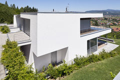 Beautiful modern house. In Samobor Croatia royalty free stock photos