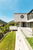 Beautiful modern house in cement Royalty Free Stock Photography