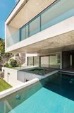 Beautiful modern house in cement Royalty Free Stock Photos