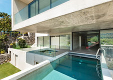 Beautiful modern house in cement Stock Images