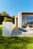 Beautiful modern house in cement Royalty Free Stock Photo