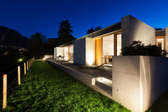 Beautiful modern house in cement Royalty Free Stock Image