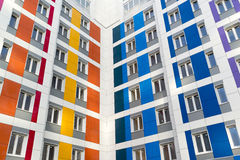 Beautiful modern house with colorful facades Stock Photos