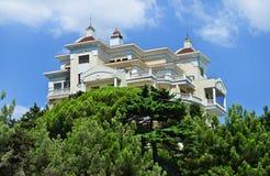 Beautiful, modern house, hotel. Yalta, Crimea,. Architecture - a beautiful, modern house, hotel in Yalta. Crimea. Ukraine Royalty Free Stock Images
