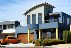 Beautiful modern house, new architecture Stock Image