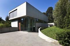 Beautiful modern house outdoors Stock Photos