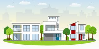 Beautiful modern houses Stock Photo
