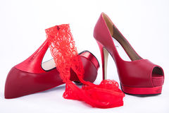 Beautiful modern Italian shoes Royalty Free Stock Photo