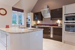 Beautiful modern kitchen royalty free stock images