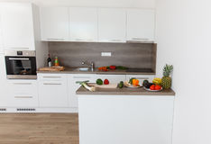 Beautiful modern kitchen. royalty free stock images