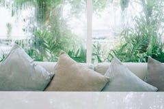 Beautiful modern living room. stock photos