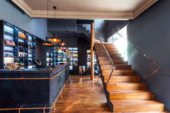 Beautiful modern loft, staircase view Royalty Free Stock Photos