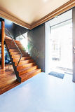 Beautiful modern loft, staircase view Stock Photo
