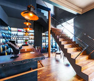 Beautiful modern loft, staircase view Stock Image