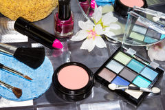 Beautiful modern make up Stock Images