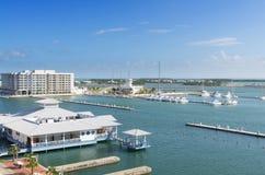 Beautiful modern marina Royalty Free Stock Images