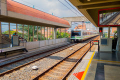 Beautiful and modern metro system in Medellin city Stock Photos